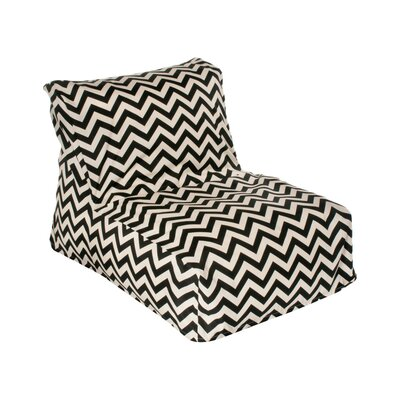 Nehemiah Bean Bag Lounger Upholstery: Black