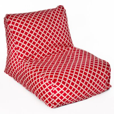 Cade Bean Bag Lounger Upholstery: Red