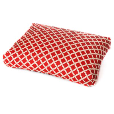 Abner Dog Pillow Size: Medium (36 L x 29 W), Color: Red