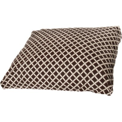 Arellano Dog Pillow Color: Brown, Size: Large (44 L x 36 W)