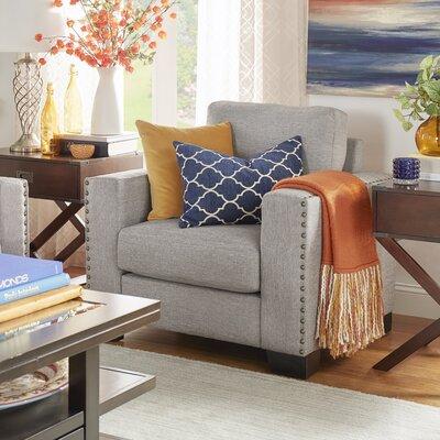 Blackston Nailhead Trim Arm Chair Color: Grey
