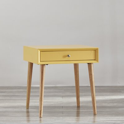 Blakeney 1 Drawer End Table Finish: Yellow