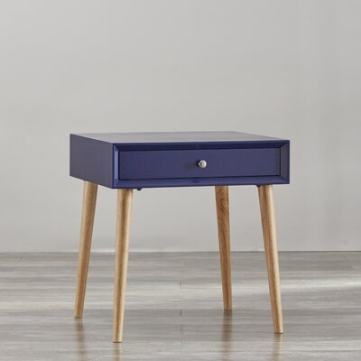 Blakeney 1 Drawer End Table Finish: Twilight Blue
