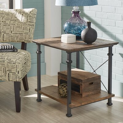 Zona End Table Color: Brown