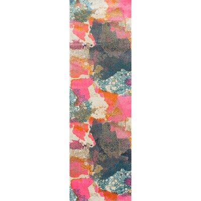 Virgil Pink Area Rug Rug Size: Runner 26 x 8
