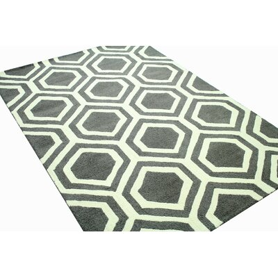 Odea Hand-Tufted Charcoal Area Rug Rug Size: Rectangle 7 x 9