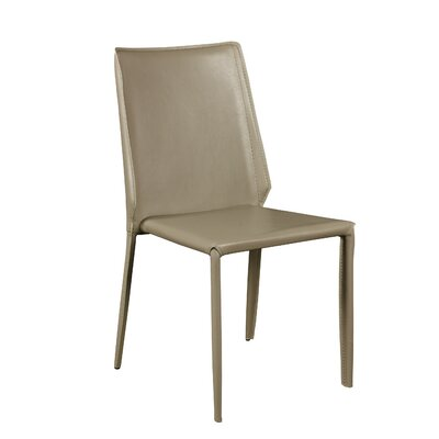 Marylynn Side Chair Upholstery: Light Gray