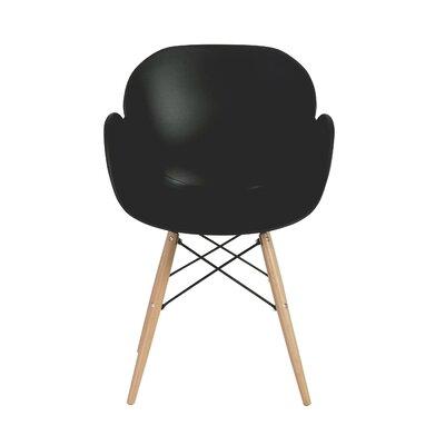 Blakley Arm Chair (Set of 4) Finish: Black