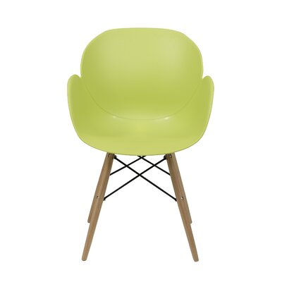 Blakley Solid Wood Dining Chair (Set of 4) Finish: Green