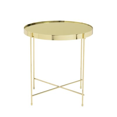 Blalock End Table Color: Gold
