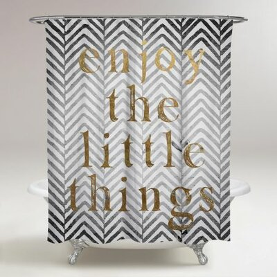 Bruning Enjoy The Little Things Shower Curtain