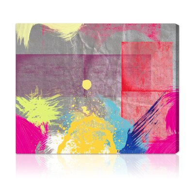 'Sunset' Painting Print on Wrapped Canvas Size: 16