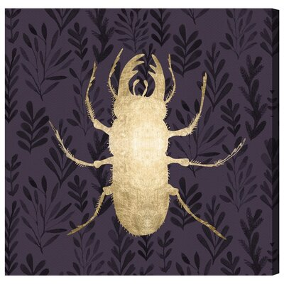 """'Golden Beetle I' Graphic Art on Wrapped Canvas Size: 20"""" H x 20"""" W IVYB6012 40309182"""