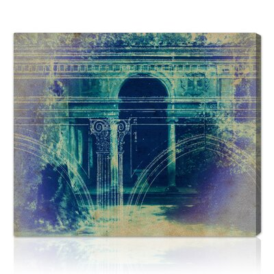 'Villa Lante' Graphic Art on Wrapped Canvas Size: 16