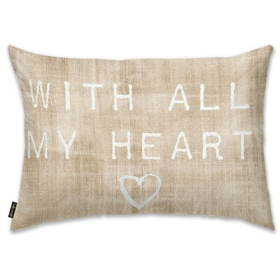 With All My Heart Lumbar Pillow