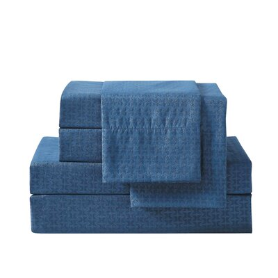 Bolyard 6 Piece Sheet Set Size: King, Color: Navy