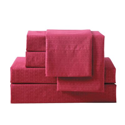 Bolyard 6 Piece Sheet Set Size: King, Color: Red