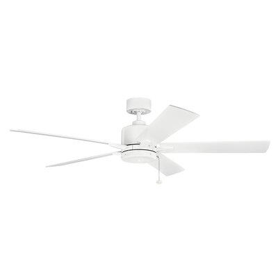 60 Bona 5-Blade Ceiling Fan Finish: Matte White