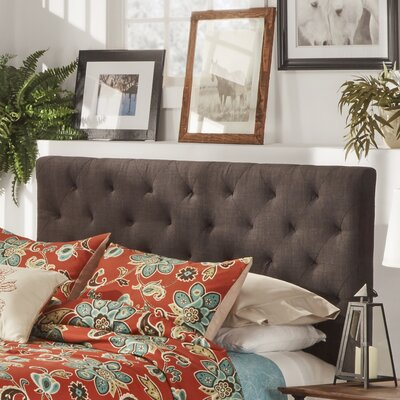 Brendle Upholstered Panel Headboard Size: Full, Upholstery: Dark Gray