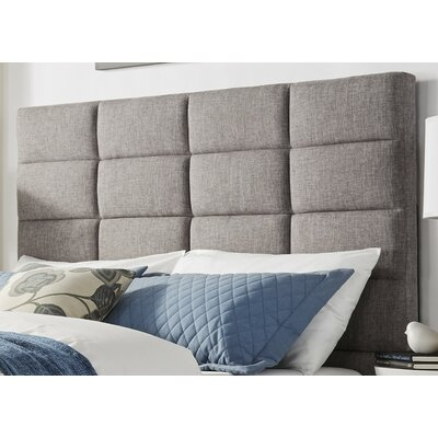 Breland Upholstered Panel Headboard Size: Full, Upholstery: Gray