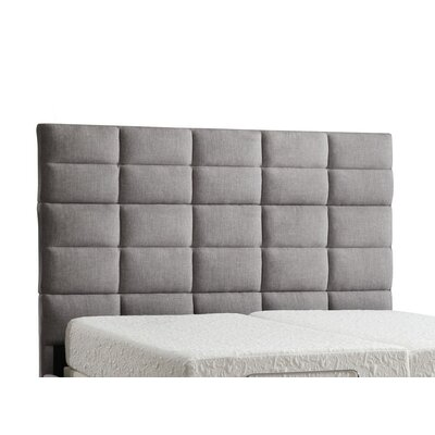 Breland Upholstered Panel Headboard Upholstery: Gray Linen, Size: King