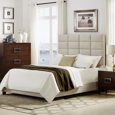 Rose Upholstered Platform Bed Size: Queen