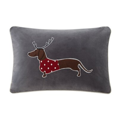 Dasher the Sleigh Dog Lumbar Pillow