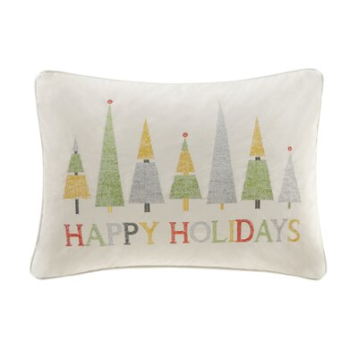 Happy Holidays Lumbar Pillow