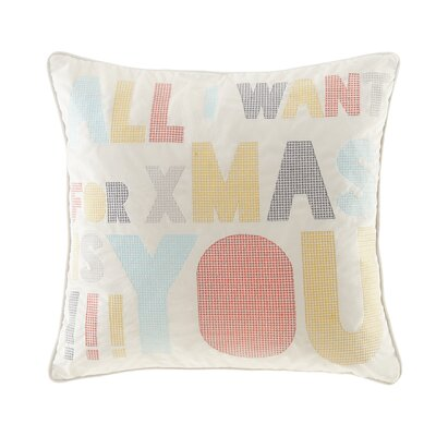 Secret Holiday Message Throw Pillow