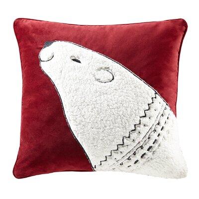 Blissful Holiday Bear Throw Pillow