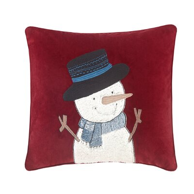 Jolly the Snowman Throw Pillow
