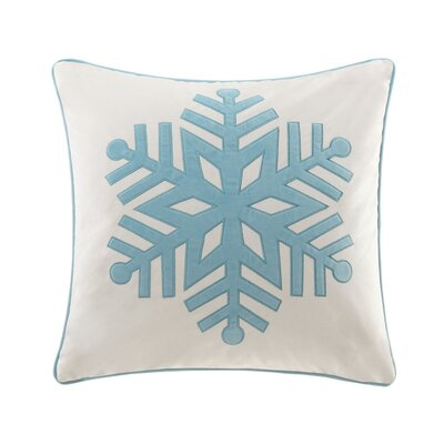 Snowflake Throw Pillow Color: Ivory