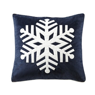 Snowflake Throw Pillow Color: Navy