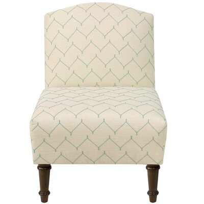 Springdale Camel Back Slipper Chair Upholstery: Du Jour Panama, Nailhead Detail: No Trim