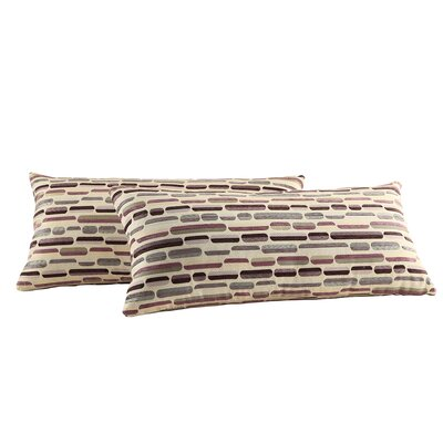 Boatright Tonal Oval Kidney Lumbar Pillow Color: Purple