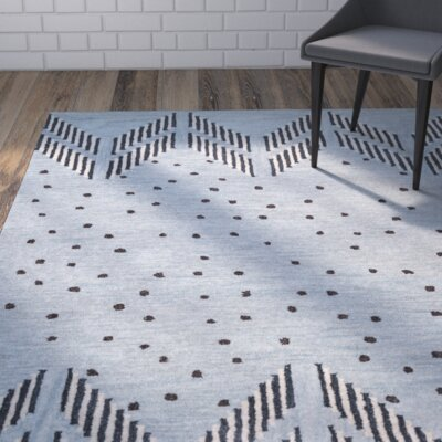 Larkins Hand-Tufted Blue/Light Blue Area Rug Rug Size: Runner 26 x 8