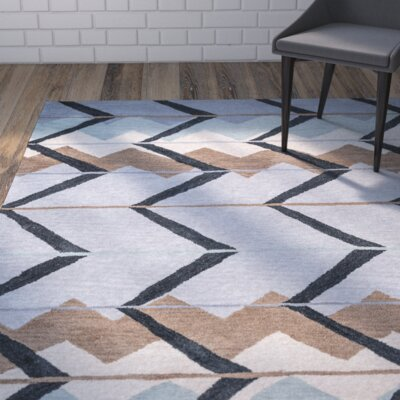 Mae Hand-Tufted Blue/Light Blue Area Rug Rug Size: Runner 26 x 8