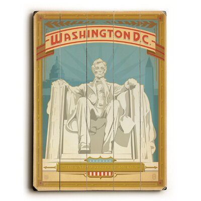 'Washington D.C' Poster On Wood Size: 16