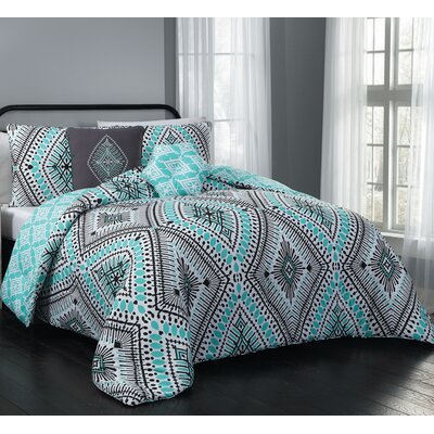 Blodgett 5 Piece Comforter Set Size: Queen, Color: Mint