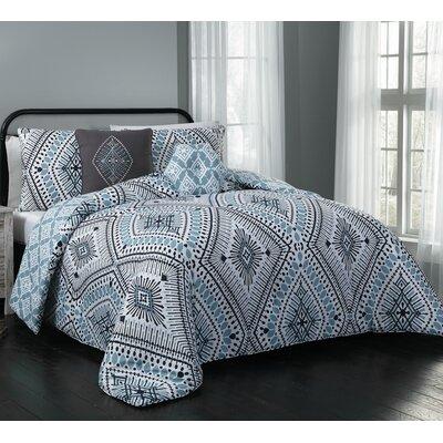Blodgett 5 Piece Comforter Set Size: King, Color: Blue