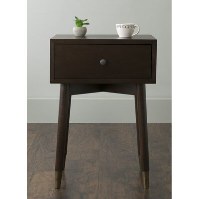 Pellston End Table With Storage� Color: Brown