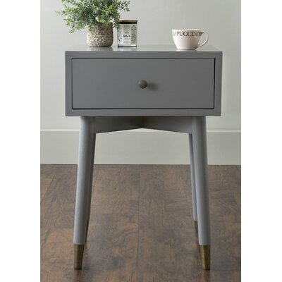 Blubaugh End Table With Storage� Color: Gray