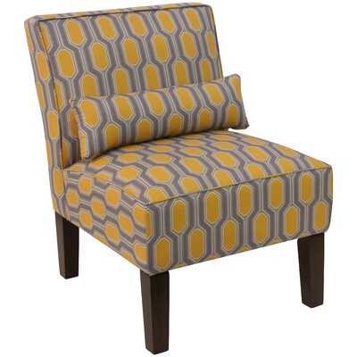 Thurston Slipper Chair Upholstery: Hexagon Yellow OGA