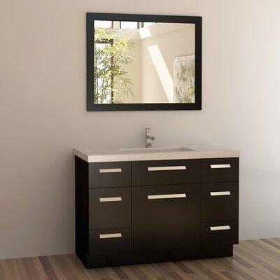 Arnette 48 Single Bathroom Vanity Set with Mirror Base Finish: Espresso
