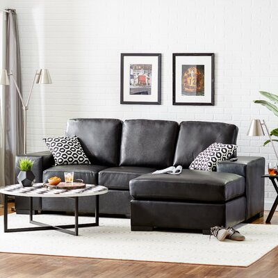 Mcelligott Sectional Upholstery: Black