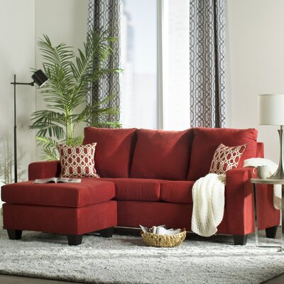 Morpheus Reversible Sectional with Ottoman Upholstery: Bulldozer Burgundy / Geo Chianti