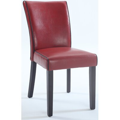 Blaylock Parsons Chair (Set of 2) Finish: Red