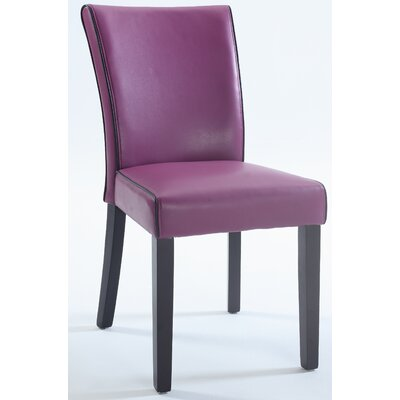 Blaylock Parsons Chair (Set of 2) Finish: Purple