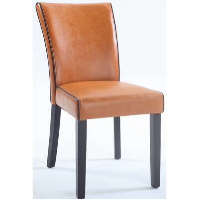 Blaylock Parsons Chair (Set of 2) Finish: Orange