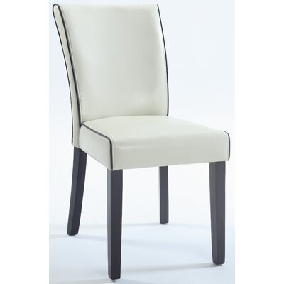 Blaylock Parsons Chair (Set of 2) Finish: Cream